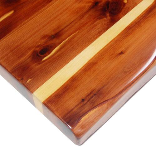 Aromatic Cedar Veneer with Matching Faux Live Edge