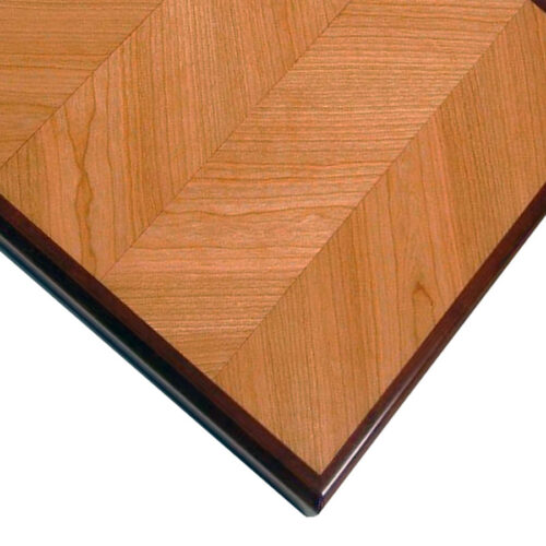 Cherry Veneer in V-Match Pattern with Stained Cherry Wood Edge