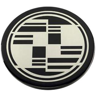 Custom Cut Brushed Aluminum on Black Painted Core