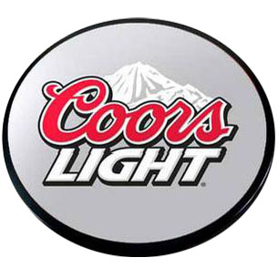 Digital Print from Customer Supplied Artwork with Painted Black Edge (Coors Light)