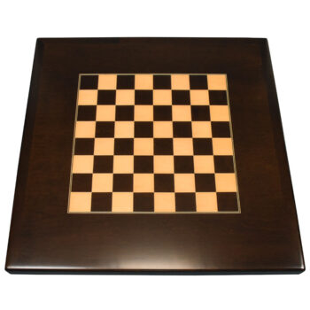 Digitally Printed Chessboard on Stained Maple Veneer and Maple Wood Edge