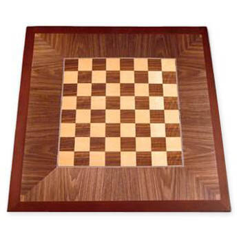 Digitally Printed Chessboard with Stained Maple Wood Edge