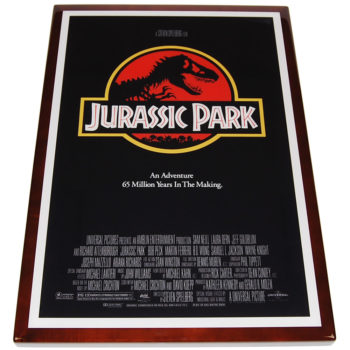 Digitally Printed Image with Stained Wood Edge (Jurassic Park)