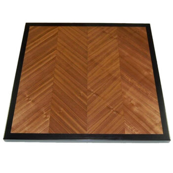 Quartered Walnut Veneer in V-Match Pattern with Ebony Stained Walnut Edge