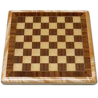 Walnut and Maple Chessboard with Maple Wood Edge