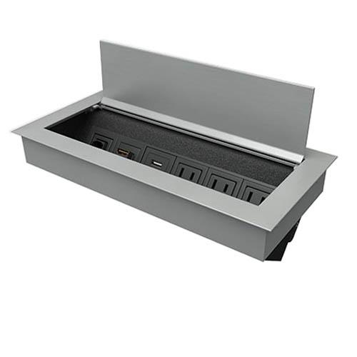 Ellora Silver Aluminum Wrinkle Black Faceplate