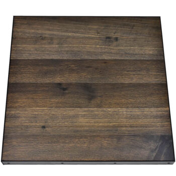 White Oak with Vintage Stain and Black Metal Edge