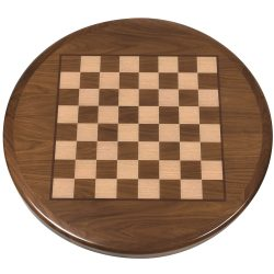 Chessboard Printed on Walnut Veneer with Stained Walnut Wood Edge -2