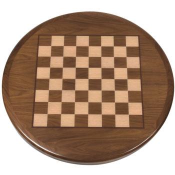 Chessboard Printed on Walnut Veneer with Stained Walnut Wood Edge -2
