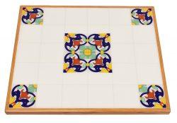Red Oak Veneer Self-Edge Table with Digitally Printed Artwork provided by Customer