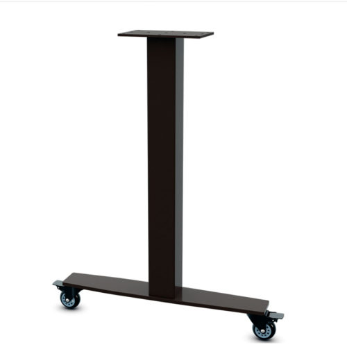 Sienna Single Column T-Leg with Casters