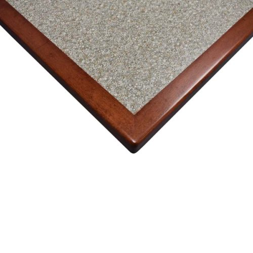 Formica #3698-58 Beluga Beige Laminate Inlay with Custom Stained Maple Wood Edge