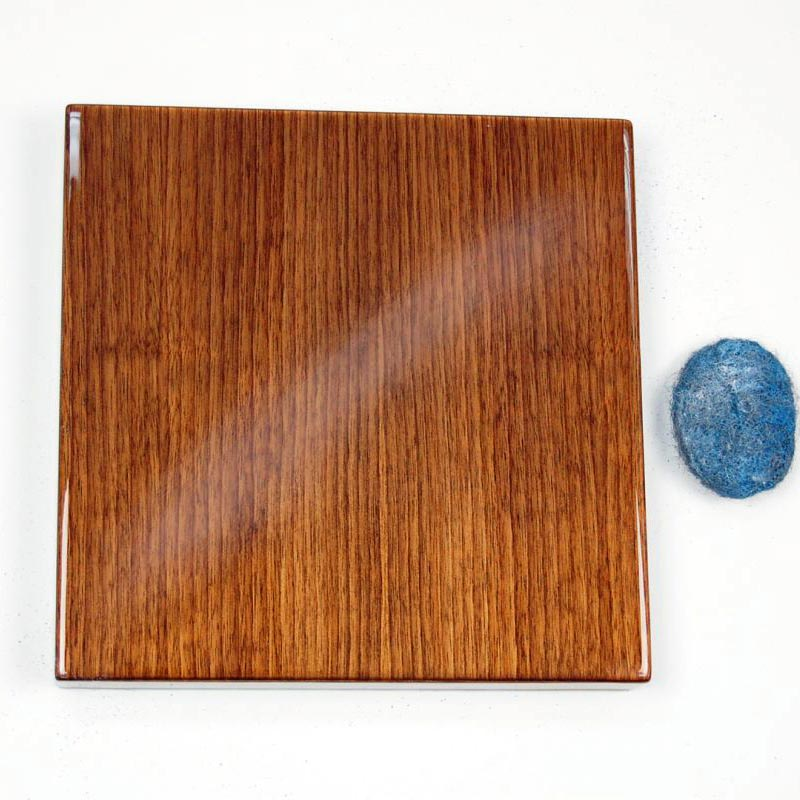 Resin with 150 Strokes with Steel Wool Brush - Top Coat Protective Finish