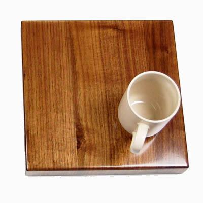 Room Temp Coffee Cup on UV Finish