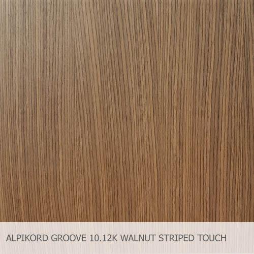 ALPIKORD GROOVE 10.12K WALNUT STRIPED TOUCH FINISH