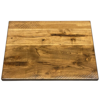 """1.25"""" Distressed Ash Plank Top with TD 410 Stain"""