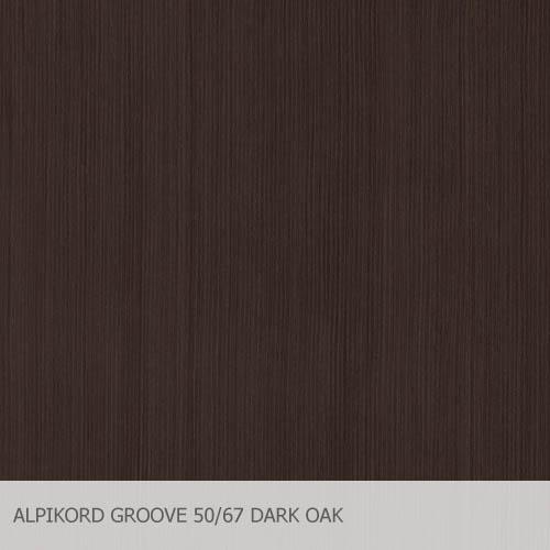 ALPIKORD GROOVE 50.67 DARK OAK