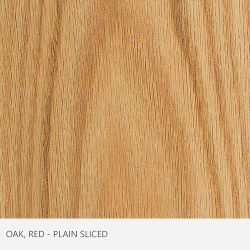 Oak Red Plain Sliced