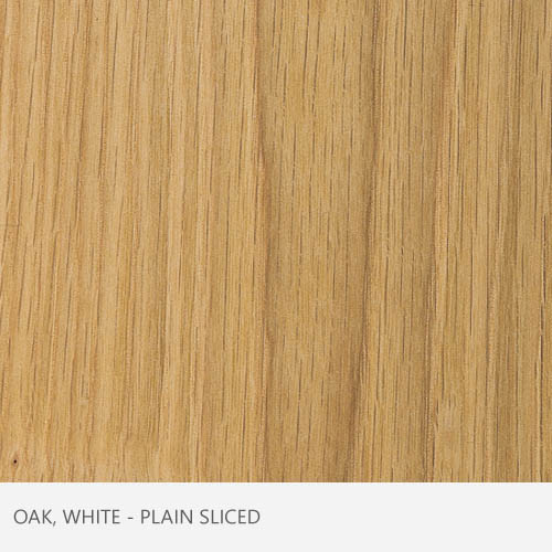 Oak White Plain Sliced