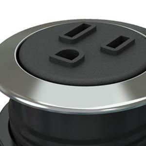 Round-Trivalent Chrome, Black Simplex