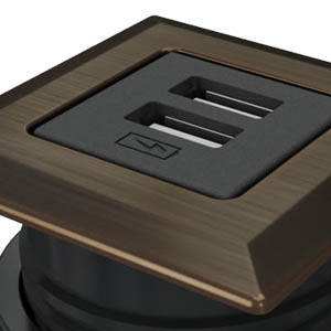 Square-Dark Bronze, Black Simplex