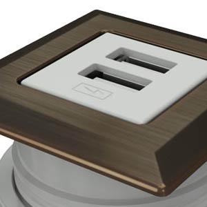 Square-Dark Bronze, White Simplex