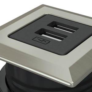 Square-Satin Nickel, Black Simplex
