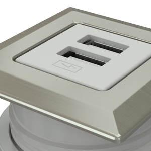 Square-Satin Nickel, White Simplex
