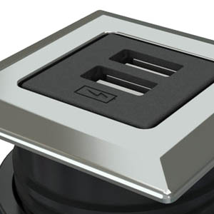 Square-Trivalent Chrome, Black Simplex