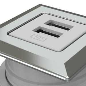 Square-Trivalent Chrome, White Simplex