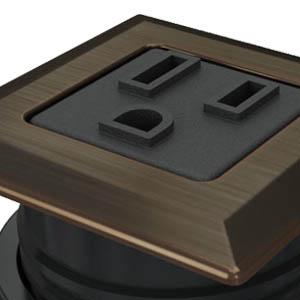 Square Dark Bronze, Black Simplex