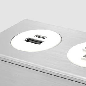 Dot Z - Anodized Aluminum with White