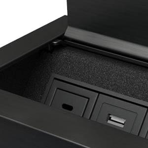 Ellora-Black Anodized Aluminum and Black Trim