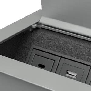 Ellora-Silver Anodized Aluminum and Black Trim