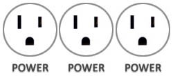 Eclipse in-surface power schematic 3 Power Outlets