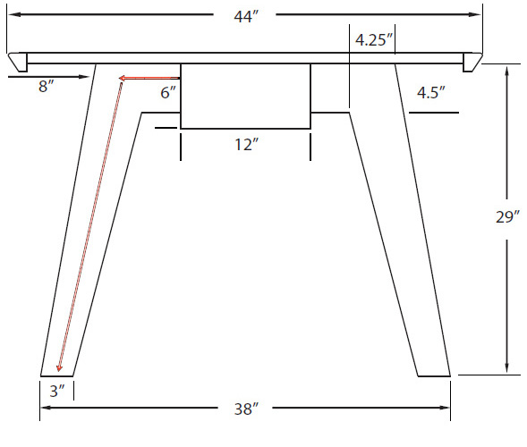Atlanta Series Table with Dimensions (Width)