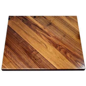 Rustic Walnut Veneer Overlay at 45 Degree Angle with Walnut Wood Edge