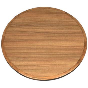 Wilsonart NeoWalnut Laminate Inlay with Maple Wood Edge Stained to Match