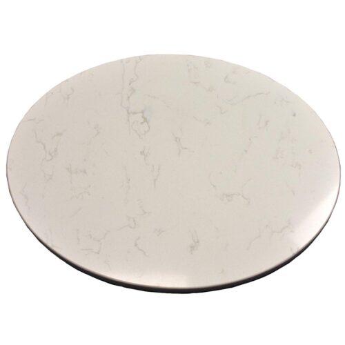"""3CM Pompeii Quartz """"Vanilla Ice"""" in Custom Oval Shape"""