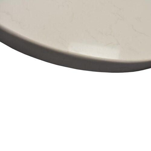 """3CM Pompeii Quartz """"Vanilla Ice"""" in Custom Oval Shape EDGE"""