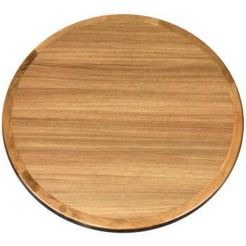 "Wilsonart ""Neo Walnut"" Laminate Inlay with Custom Stained Maple Wood Edge"