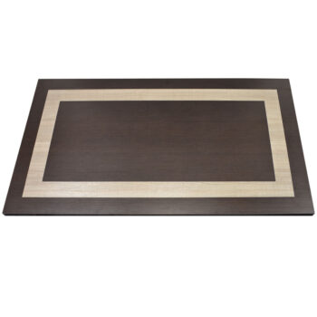 Wilsonart Cafelle Laminate Self-Edge with Wilsonart 5th Ave Elm Laminate Inlay