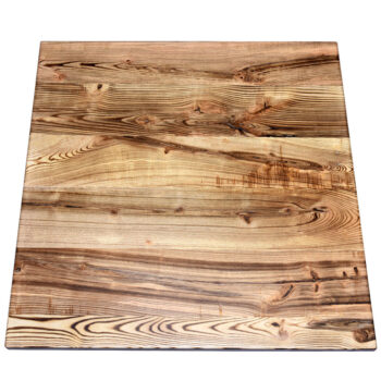 Carbonized and Distressed Ash Plank Top