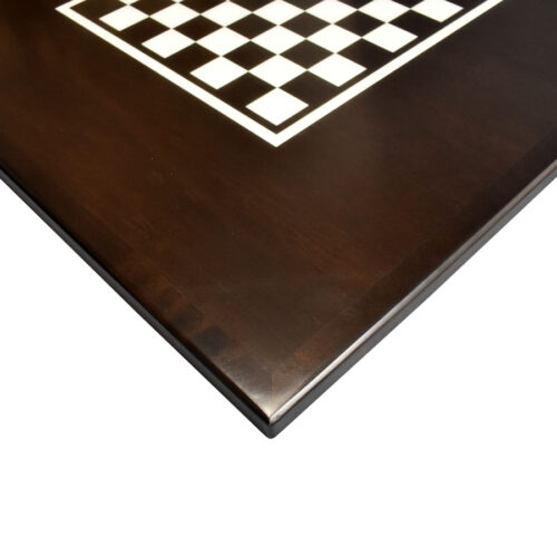 Maple Veneer Custom Stained with White Printed Checkerboard and Maple Wood Edge