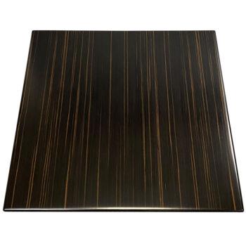 "Brookline ""Qtr Andaman Ebony"" Veneer with Custom Stained Maple Wood Edge"
