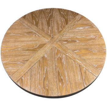 White Oak Veneer in Custom Pattern with V-Grooves and White Oak Wood Edge with Custom Ceruse Stain