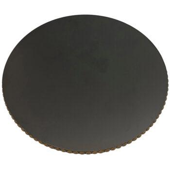 "Wilsonart Solicore ""Black"" Laminate with Black Edge and Decorative Nail Tacks"