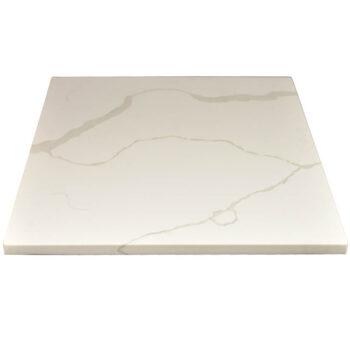 """2CM Q-Quartz """"Calacatta Classique"""" Custom made Stone Restaurant Table Top"""