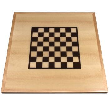 Checker Board Digitally Printed on Maple Veneer with Maple Wood Edge