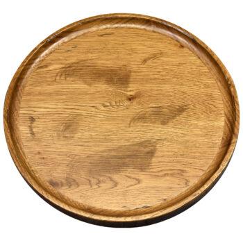 Distressed Rustic White Oak Veneer with Dripless White Oak Wood Edge and TD 410 Stain